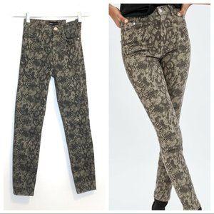 Zara BNWT animal print snake hi-rise skinny jean 2